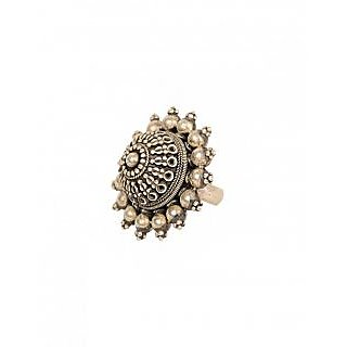 New Fashion Floral Embossed Ring