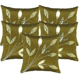 Leaves Patch Cushion Cover Green (5 Pcs Set)