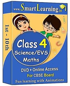 Smartlearning.in CBSE Class 4th Maths & Science/EVS (DV