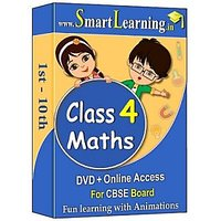 Smartlearning.in CBSE Class 4th Maths (DVD + Online Acc