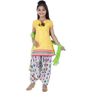 Kids Chakra Yellow Patiala Suit Set