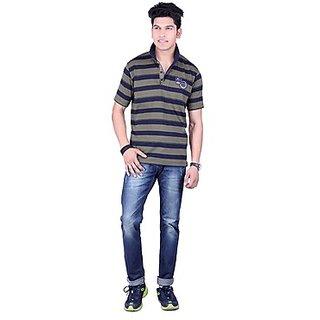 DEUTZ Multi Color Cotton Regular Mens T-Shirt (805)