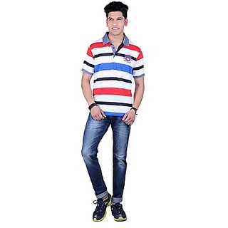 DEUTZ Multi Color Cotton Regular Mens T-Shirt (807)
