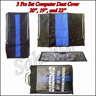3 Pcs Set Computer Desktop Dust Cover 20 LED LCD Monitor Economy
