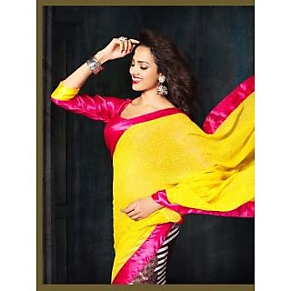 Riti Riwaz Georgette casual saree with unstitched blouse RSG482A