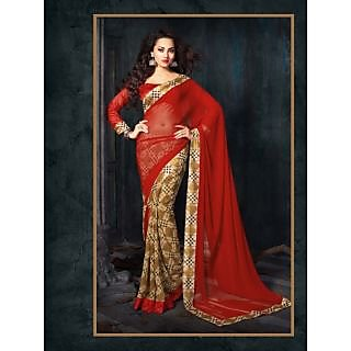 Riti Riwaz Georgette casual saree with unstitched blouse RSG484B