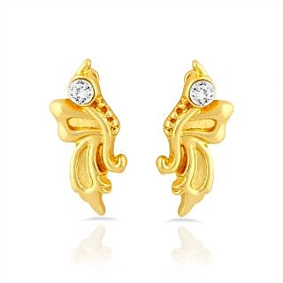 c8fafd788 Mahi Gold Plated Butterfly Stud Earrings With Crystal For Women Er1109284G