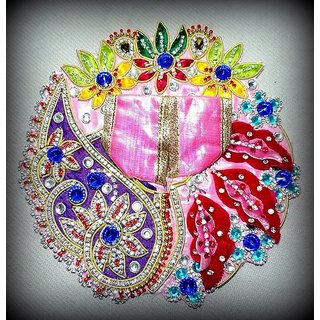 Clothes and precious jewellery of lord Krishna