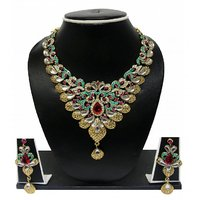Zaveri Pearls Graceful Petals Grand Necklace Set For Women -ZPFK84