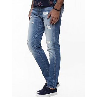 Men's Regular Fit Blue Jeans