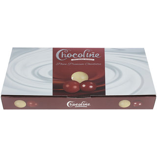 Chocoline 18 Pieces Dark, Milk and White Assorted Premium Chocolate Filled Box