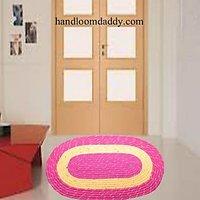 Handloomdaddy Attractive Pink Jute Door Mat(set Of 2pieces)dm02