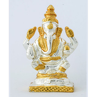 nilgiritouch Silver Ganesha Showpiece