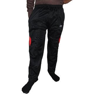 Alfa Mens Black Cotton Blend Trackpant