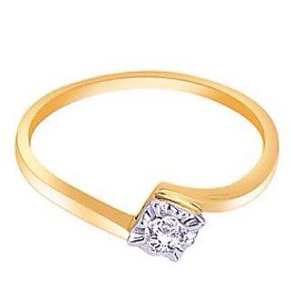 Alina gems 18kt diamond ring studded with 0.12ct diamond
