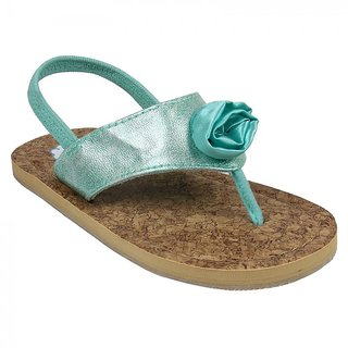 Green Flower Flip Flop for Girls by Happy Cloud