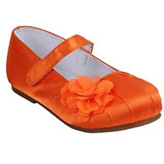 Orange Flower Ballerinas for Girls by Happy Cloud
