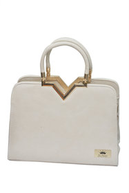 Smart Cream Casual Hand Bag