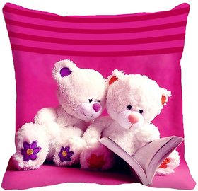 Teddy Friendship Day Cushion Cover (16x16)
