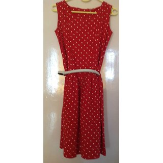 The Original Casual Polka Dot Look - Red & White with a White Leather Belt