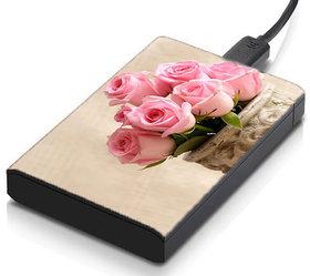 MeSleep Pink Roses Hard Drive Skin
