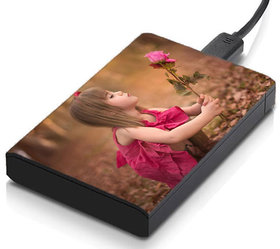 MeSleep Girl With Rose Hard Drive Skin