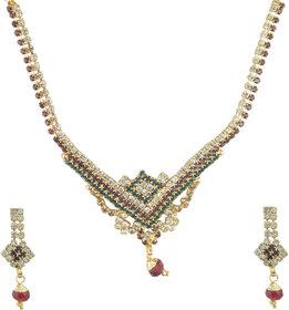 Aakshi Taj Of Beauty Ruby Red 3-Piece Set