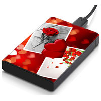 MeSleep Heart & Rose Hard Drive Skin