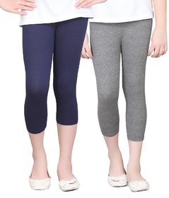 SINIMINI GIRLS TIGHTS CAPRI (PACK OF 2 )-SMTC2005_NAVY_AMELANGE