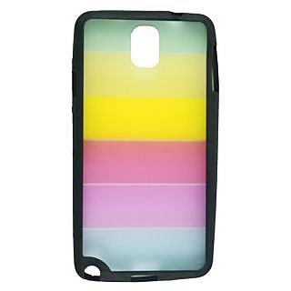 KMS Rainbow Transparent Silicon Back Case Cover For Samsung Galaxy Note 3