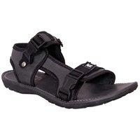 Guardian Mens Black Velcro Sandals