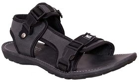 Guardian Mens Black Velcro Sandals