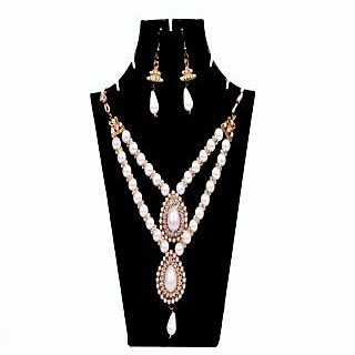 Artificial Jewellery Set Anshu Love Double Pearl Necklace