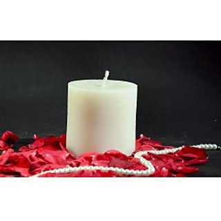 White Jasmine 1 Pillar Scented Candle 2.75 Inches Wide & 5 Inches HIgh