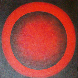 Hand Made Abstract Namo Circles on Canvas 12 inch x 12 inch