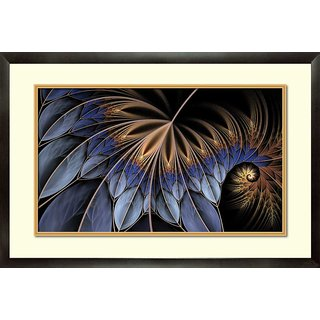 MATAYE GRAPHICS Abstract Designer Painting with Frame (17 inch x 25 inch)