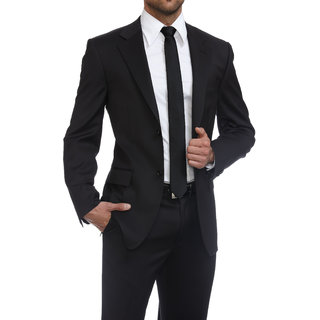 4c96501b311 Buy Gwalior Men s Black Fabric Online   ₹799 from ShopClues