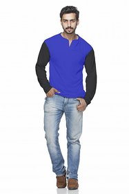 Demokrazy Men's Multicolor Round Neck T-Shirt