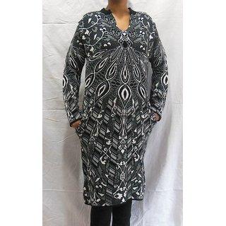 Pampara Black Woolen Kurti 089B