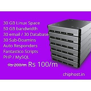 Linux hosting 30 GB