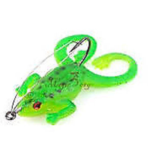 Bottom Fishing Weedless Frog Soft Plastic Rig Hook Bass Trout Pike Lure Lot 1 pc