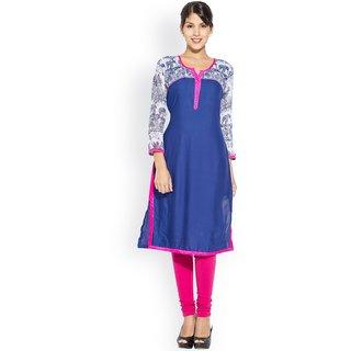 Ravishing Cotton Rayon Blue Kurti