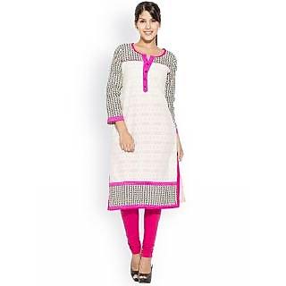 Modernistic Cotton Rayon Pink Kurti