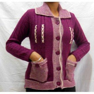 Stylish Woolen Cardigan 112G