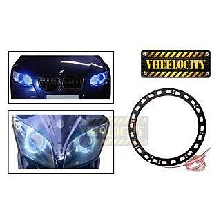 Angel Eyes LED Tube Strip Light for Car & Bikes Headlight - Blue