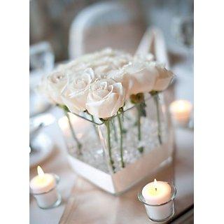 White Jasmine Votive 4 Scented Tea Light Candles