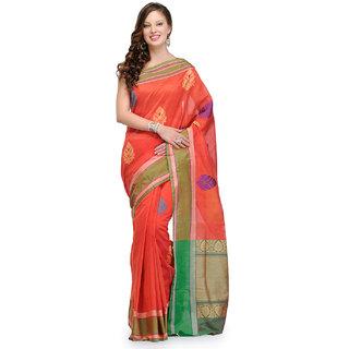 Banarasi Saree Groovy Red Colored Cotton Saree
