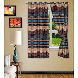 Story@Home broWn Polyster Window Curtain Nature 2 Pc  Wnr2065