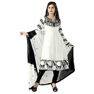 triveni gorgeous white embroidery indian designer smart office wear
