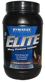 Dymatize Elite Whey Protein Isolate, 2 Lb Chocolate Fudge